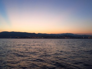 Blick zurück auf Palma